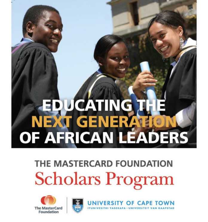 University of Cape Town MasterCard Foundation Scholarship
